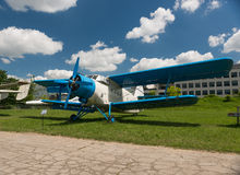POLAND - JUL,  2015:  Exhibition plane in the Stock Images