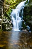 Poland. The Karkonosze National Park (biosphere reserve) - Kamienczyk waterfall Royalty Free Stock Photos