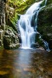 Poland. The Karkonosze National Park (biosphere reserve) - Kamienczyk waterfall.  Royalty Free Stock Photos