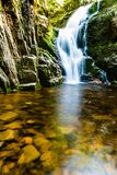 Poland. The Karkonosze National Park (biosphere reserve) - Kamienczyk waterfall Stock Images