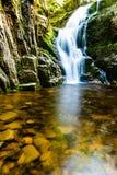 Poland. The Karkonosze National Park (biosphere reserve) - Kamienczyk waterfall.  Stock Images