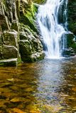 Poland. The Karkonosze National Park (biosphere reserve) - Kamienczyk waterfall Stock Photography