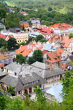 Poland - Kazimierz Dolny. Kazimierz Dolny, Poland - city architecture aerial view Royalty Free Stock Photography