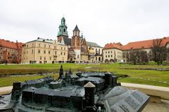 Poland, krakow, castle Stock Photography