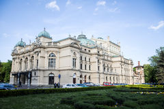 Poland krakow 08.05.2015 Local People during daily life of famous buildings and monuments stock photography