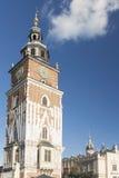 Poland, Krakow, Main Market, Town Hall Tower, Sunlit Royalty Free Stock Photos