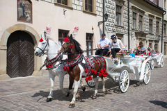 POLAND, KRAKOW - MAY 27, 2016: Krakow is the second largest and one of the oldest cities in Poland. Stock Image