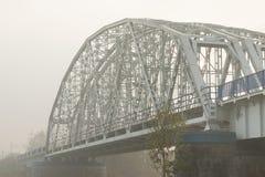 Poland, Krakow, Steel Railway Bridge Stock Photo