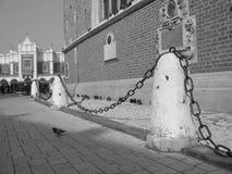 Poland Krakow Street View. B/w Royalty Free Stock Image