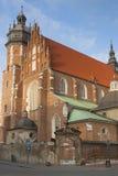 Poland, Kraków, Kazimierz, West  End of Corpus Christi Gothic C Royalty Free Stock Photo