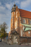 Poland, Kraków, Kazimierz, West  End of Corpus Christi Gothic C Royalty Free Stock Photography