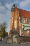 Poland, Kraków, Kazimierz, West  End of Corpus Christi Gothic C Royalty Free Stock Photography