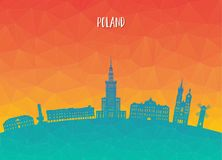 Poland Landmark Global Travel And Journey paper background. Vect. Or Design Template.used for your advertisement, book, banner, template, travel business or Royalty Free Stock Photo