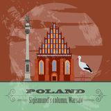 Poland landmarks. Retro styled image Royalty Free Stock Photos