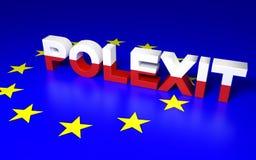 Poland leaving EU Royalty Free Stock Images