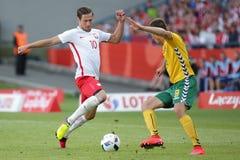 Poland - Lithuania Grzegorz Krychowiak football Stock Photos