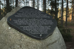 Poland, Lubelskie, Memorial at Former Sobibór Nazi Exterminatio Royalty Free Stock Photo