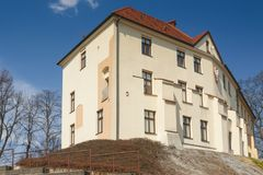 Poland, Malopolska, Oswiecim, Piast Castle. Early spring, sunlit royalty free stock photo