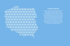 Poland map abstract schematic from white snowflakes pattern decoration Christmas and Happy New Year on light-blue background for. Banner, poster, greeting card vector illustration
