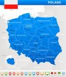 Poland - map and flag illustration Stock Photo