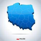 Poland - map and flag illustration Stock Image