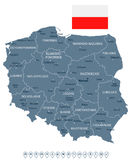 Poland - map and flag illustration Royalty Free Stock Photo