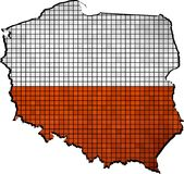 Poland map with flag inside. Illustration Royalty Free Stock Image