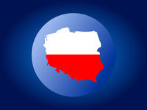 Poland map flag sphere Royalty Free Stock Photography