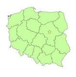 Poland  map outline Stock Images