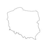 Poland map silhouette. Poland map on the white background. Vector illustration Stock Images