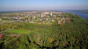Serock recreation resort by Narew river and Zegrzynski Reservoir near Warsaw, Poland stock video footage
