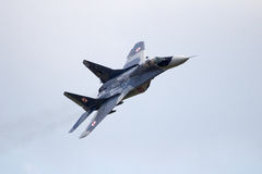 Poland MiG-29 fighter jet Royalty Free Stock Photo