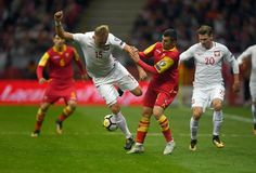 Poland - Montenegro Russia 2018 qualifications Royalty Free Stock Photography
