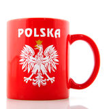 Poland mug Royalty Free Stock Photos