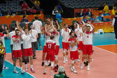 Poland national men's volleyball team at Rio2016 Stock Photos
