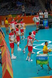 Poland national men's volleyball team Stock Photos