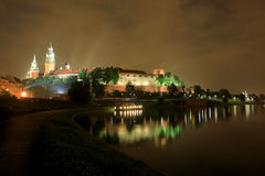 Poland by night - Krakow royalty free stock photography