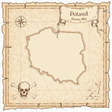 Poland old pirate map. Stock Image