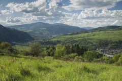 Poland, Panoramic Viev of Gorce Mountain Range, Spectacular Clou Stock Image