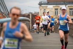 POLAND - participants during the annual Krakow international Marathon. Stock Photo