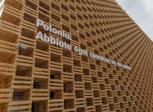 Poland Pavilion at EXPO 2015 in Milan, Italy Stock Image