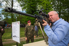 POLAND - people during demonstration of the military and rescue equipment Royalty Free Stock Photos