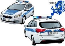 Poland Police Car Royalty Free Stock Photography