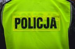 poland polis arkivbild