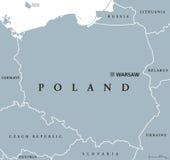 Poland political map Royalty Free Stock Photo