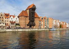 Old Port Crane in Gdansk, Poland Stock Photos