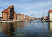 Old Port Crane in Gdansk, Poland Stock Image