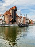 Old Port Crane in Gdansk, Poland Royalty Free Stock Photo