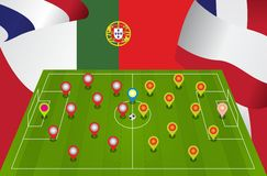 Poland Portugal match Stock Images