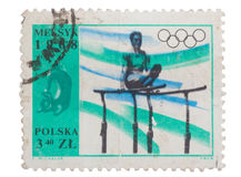 Poland - about 1968: post stamp printed in  shows Olympics Stock Photo
